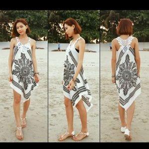 Other - Assymetrical high low bikini coverup tunic dress